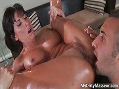 Awesome brunette MILF Lezley Zen