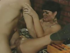 Sexy brunette Jeanna Fine sucks and fucks to get her car fixed