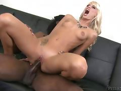 Erica Fontes sucks a huge black dick and takes it in her pussy