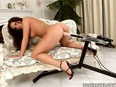 Adorable Angie Knight gets fucked by fucking machine