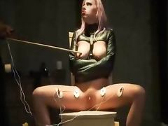 Electro Orgasm And Blowjob