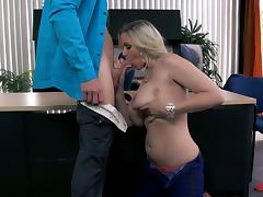 Busty blonde julia nails her boss