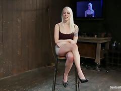 Cute Blonde Lorelei Lee Gets nipple Torture and Bondage