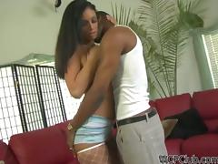 Hot Brunette Ice La Fox Banged by a Black Cock in Interracial Clip
