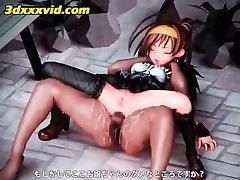 3d Anime Teen Gets Dripping Twat Fucked Upskirt