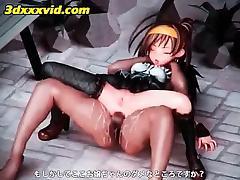 3d Anime Teen Gets Dripping Twat Fucked Upskirt
