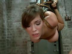 A lot of belts and ropes to bondage this petite hun Holly Michaels