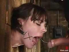 Dana Dearmond gets brutishly fucked stranger behind while organism involving a pillory