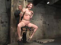 Sexy Sarah Blake gets tortured and toyed unconnected with Isis Cherish