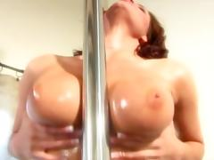 Incredible Busty Tory Lane Oiled Her Ass Hole Before Anal Sex