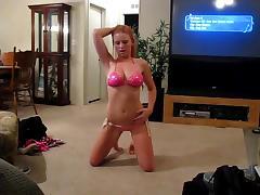 Bikini videos. When it gets lewd all the sexy women start posing while wearing bikini