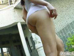 Lara Stevens gets her ass plugged at Asstraffic.