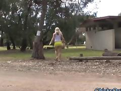 Aussie girlfriend sucking delicious penis outdoors