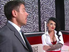 Christy Mack gives head to Mick Blue and has anal sex with him