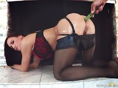 Diamond Foxxx And Mick Blue Go Really Hardcore Cover In Oil