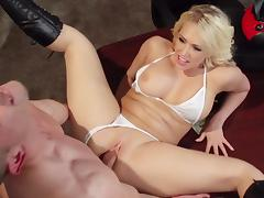 Blonde Kagney Linn Karter is getting cum