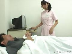 Asian Nurse Gives Her Patient A Hot Anal Exam And A Yummy Handjob