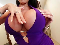 Naughty stud Kevin Moore fucks Eva Karera's big tits hardcore